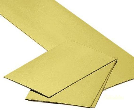 Szögletes arany tortakarton 25x30cm
