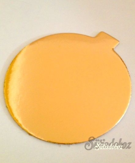 Arany színû karton minitorta alátét 8cm