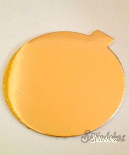 Arany színû karton minitorta alátét 10cm