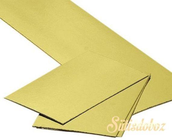Szögletes arany tortakarton óriás - 40x60cm - Csak személyes átvétellel!