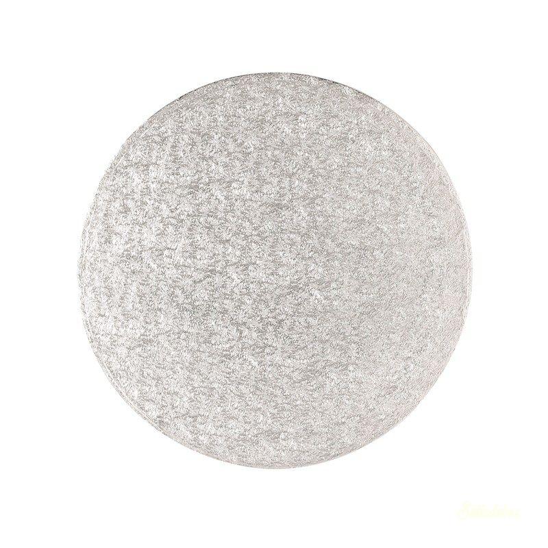 Tortaalátét vékony ezüst 17cm 3mm