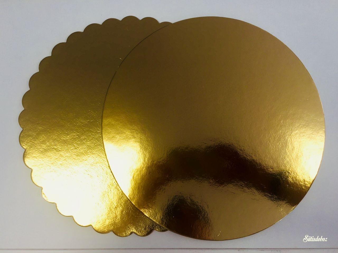 Kerek arany tortakarton 40cm - Csak személyes átvétellel!