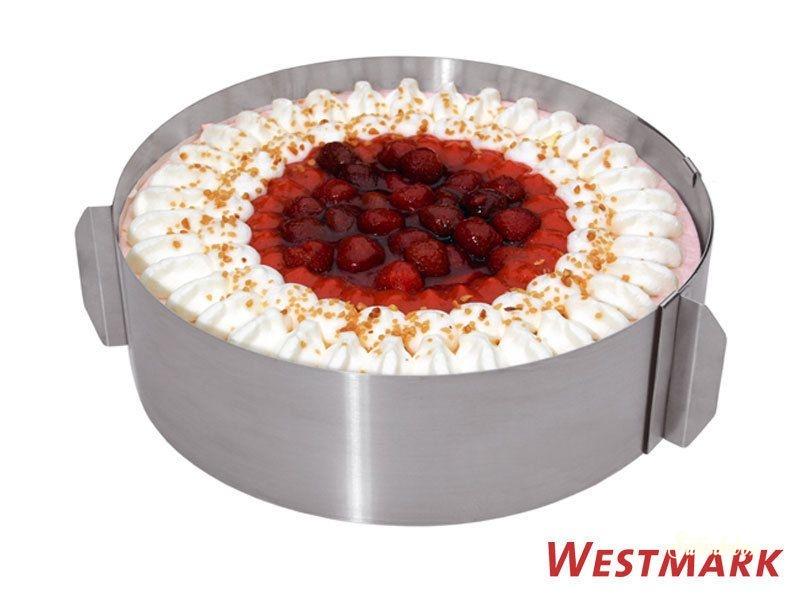 Rozsdamentes acél állítható tortakarika 16-30cm-ig - Extra magas
