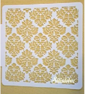 Tortadíszítõ stencil - Barokk minta 1db