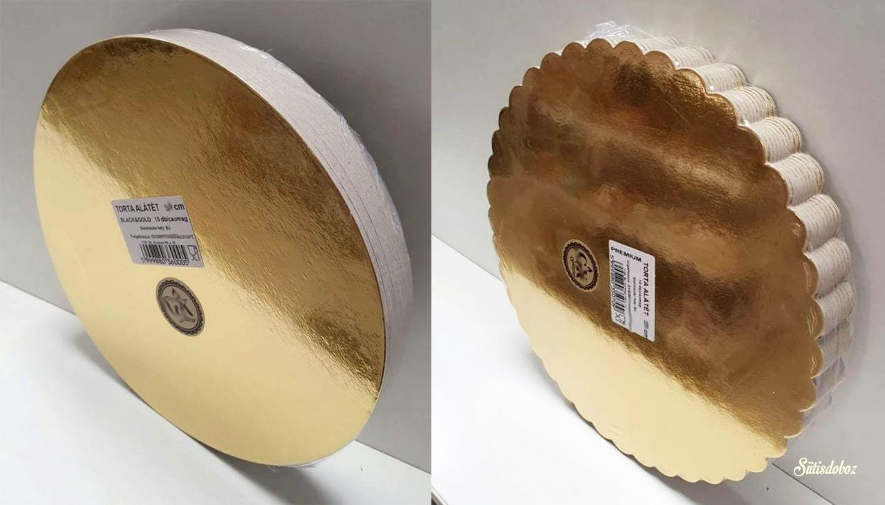 Kerek arany tortakarton 18cm