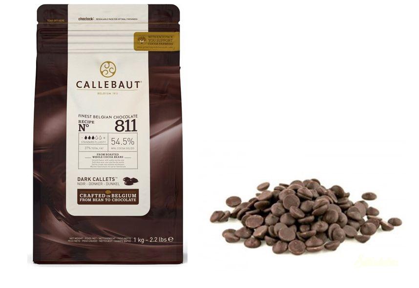 Callebaut étcsokoládé pasztilla 54,5% 1kg