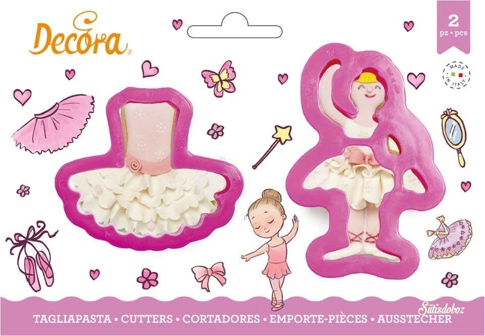 Decora műanyag kiszúró 2db - Balerina és tütü