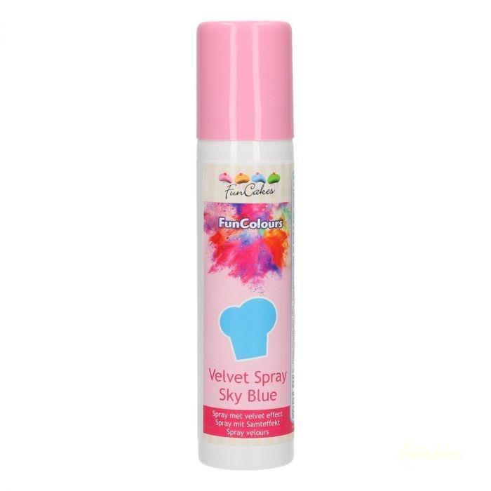 FunCakes Velvet bársony spray 100ml - Égszínkék