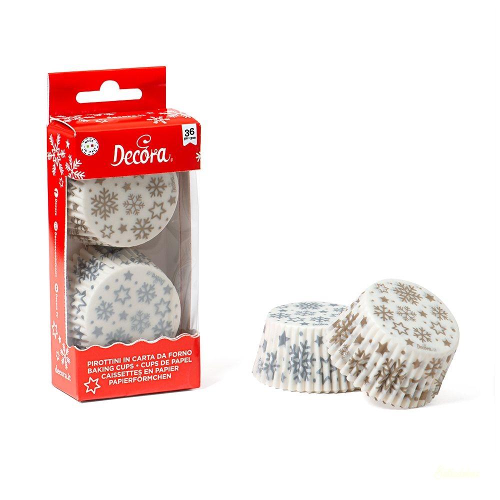 Decora muffinkapszli 36db - Hópehely