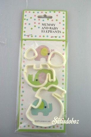 Műanyag kiszúró 2db - Elefántok