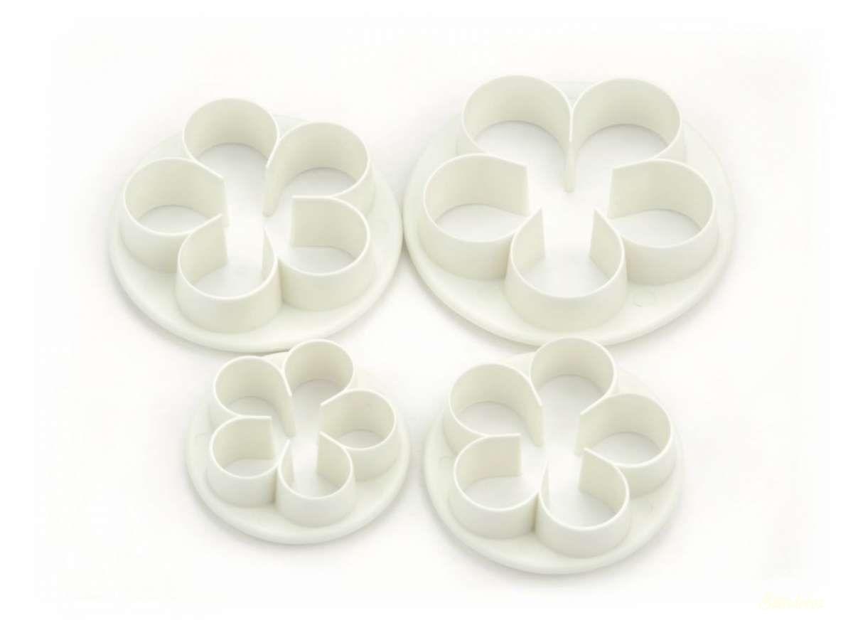 Műanyag kiszúró - Rózsa 4db-os