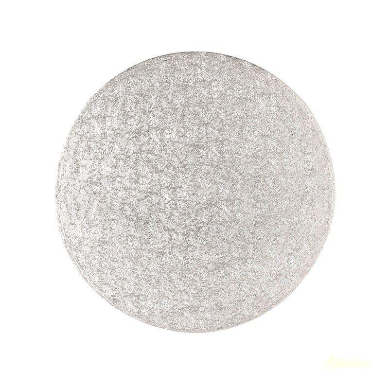 Tortaalátét vékony ezüst 25cm 1,7mm