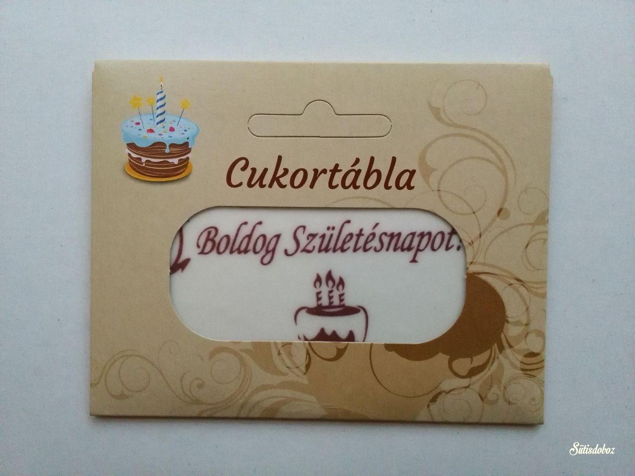 Csomagolt cukortábla - Boldog Születésnapot! (Barna)