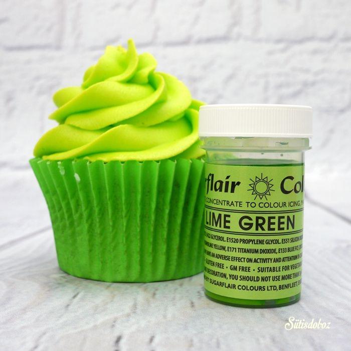 Sugarflair koncentrált ételfesték paszta 25g - Lime zöld