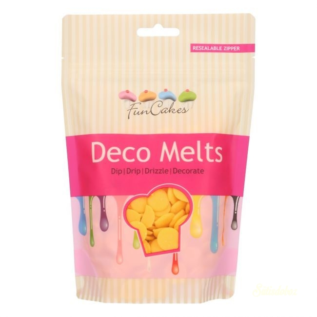 Funcakes Deco Melts 250g - Sárga