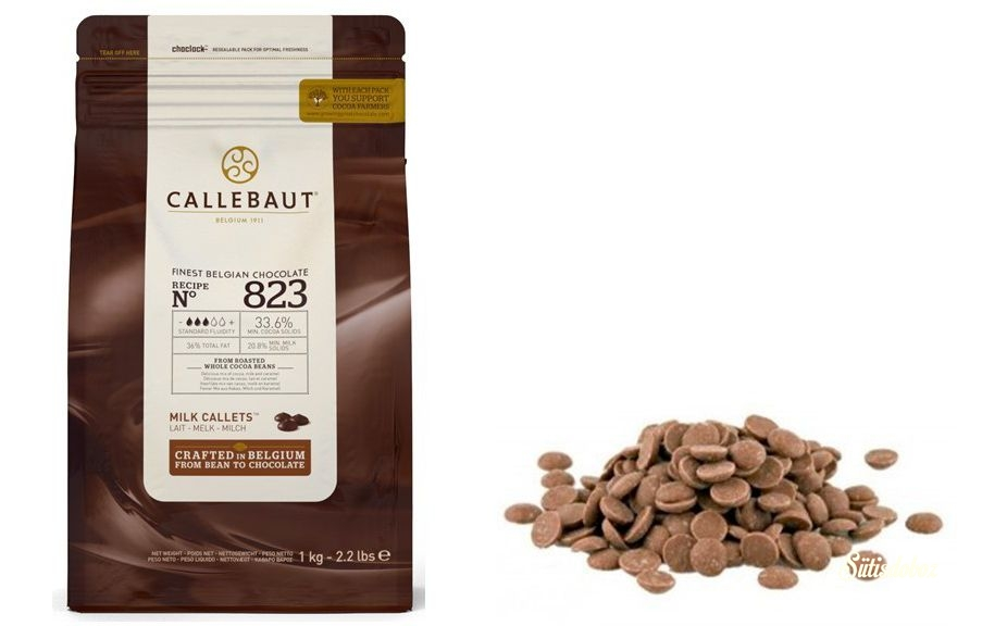 Callebaut tejcsokoládé pasztilla 33,6% 1kg