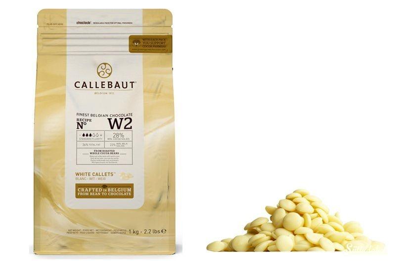 Callebaut fehércsokoládé pasztilla 28% 1kg