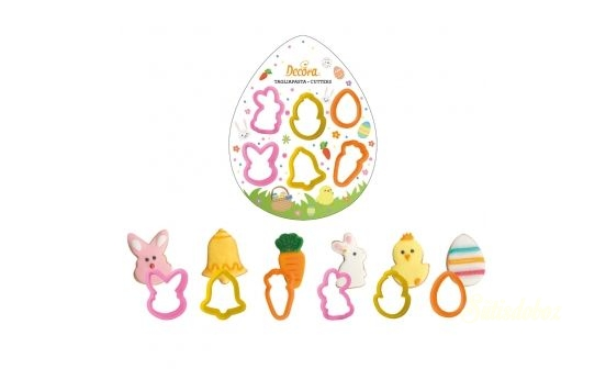 Decora húsvéti műanyag kiszúrók 6db