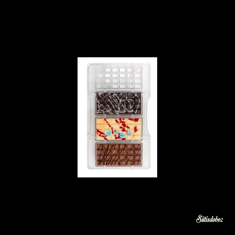Decora polikarbonát bonbon forma - 50g-os tábla
