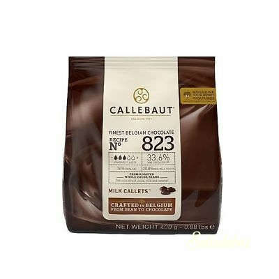 Callebaut belga csokoládé pasztilla 400g - Tejcsokoládé 33,6%