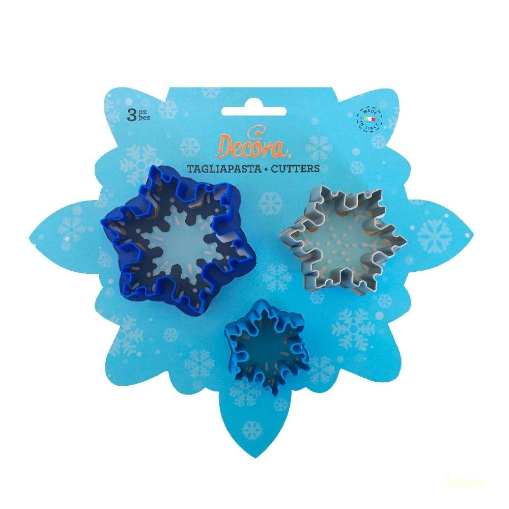 Decora műanyag kiszúró 3db - Jégvirág hópehely