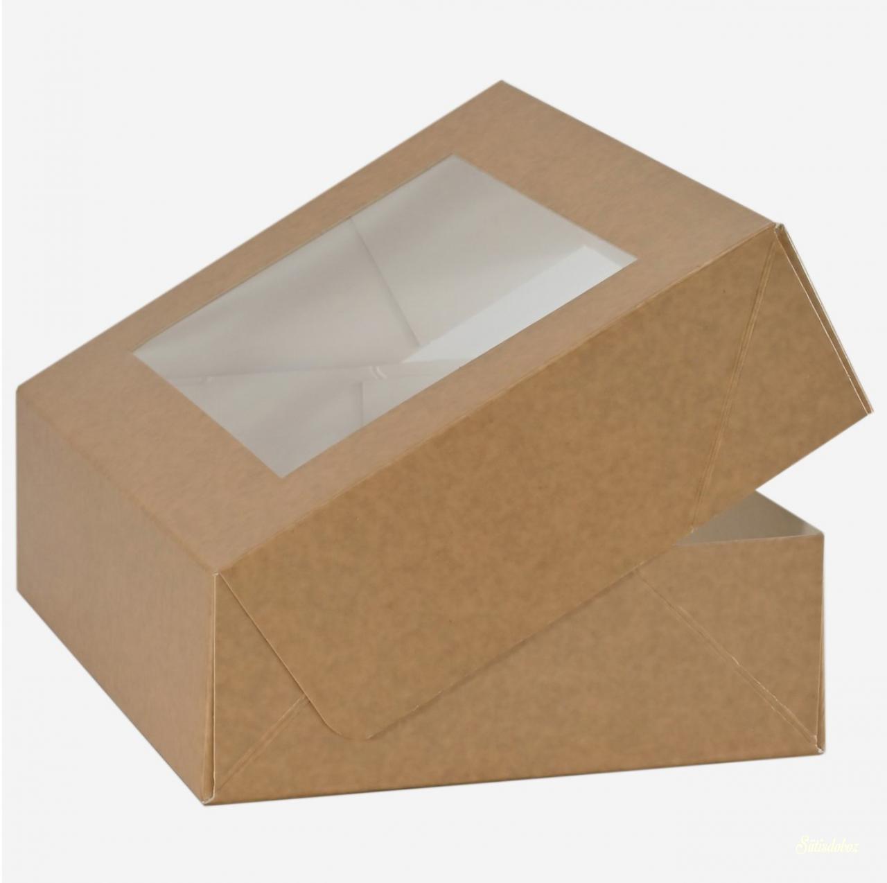 Natúr ablakos sütis doboz 18.5x15x6cm