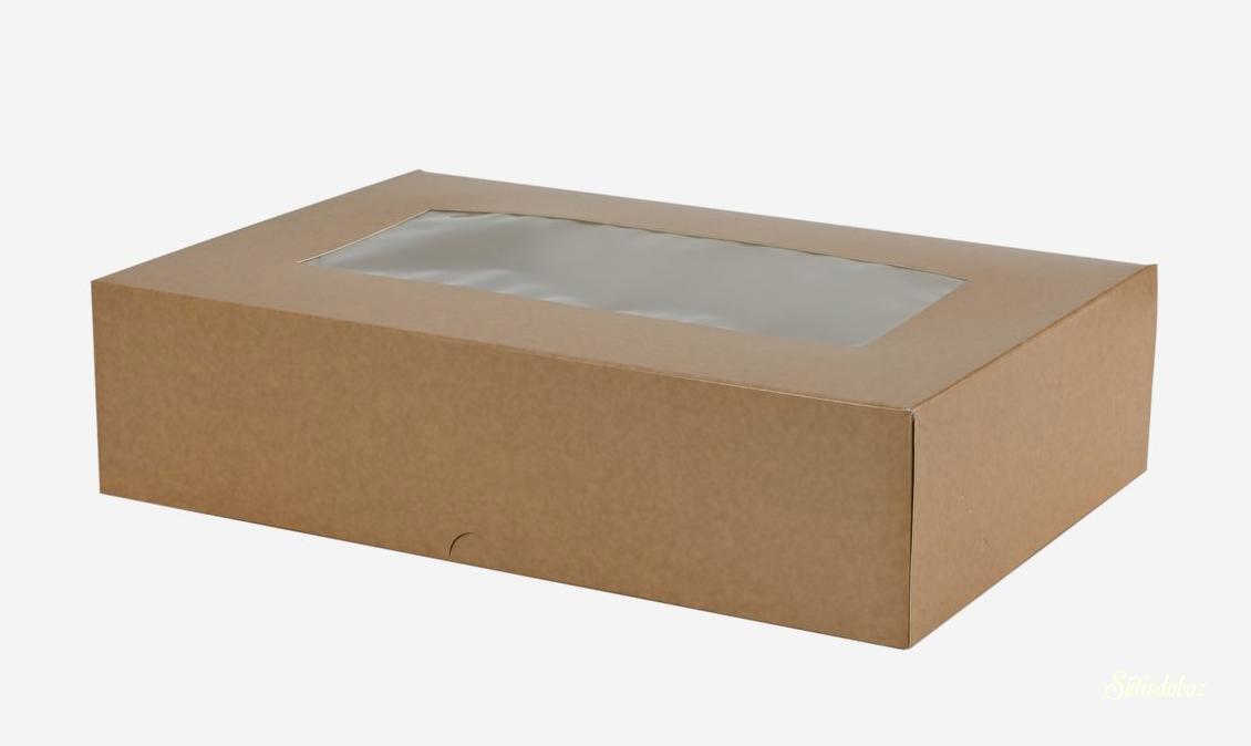 Natúr ablakos sütis doboz 28x19x7cm