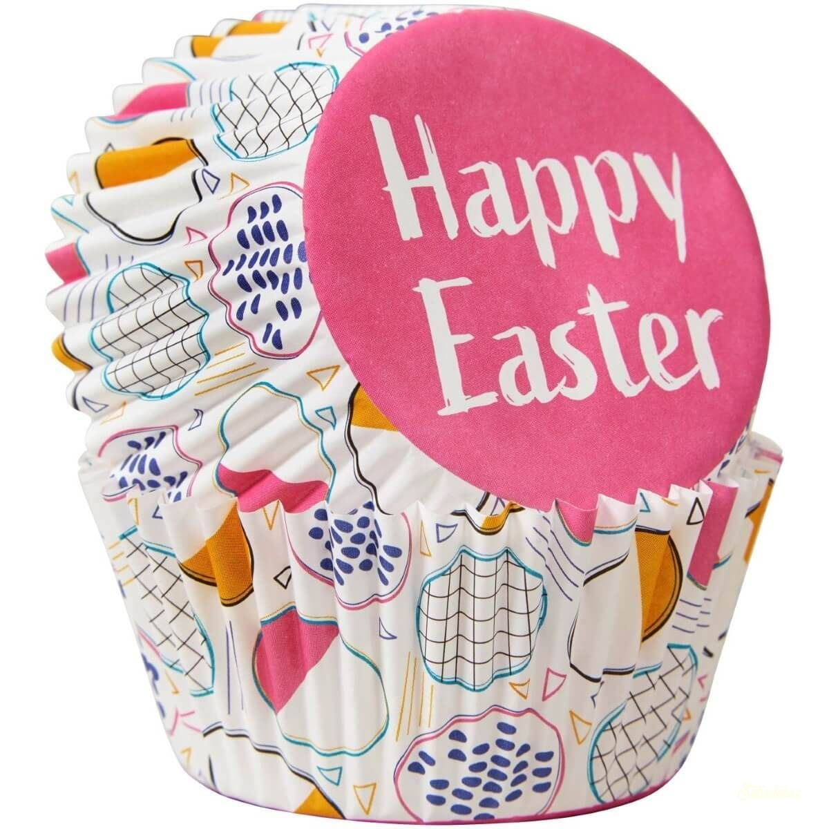 Wilton muffinkapszli - Happy Easter 75db
