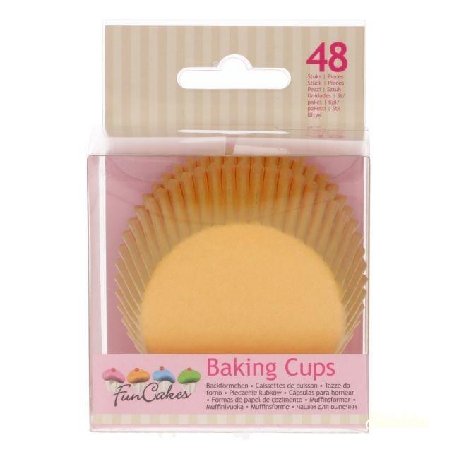 Funcakes muffinpapír 48db - Sárga