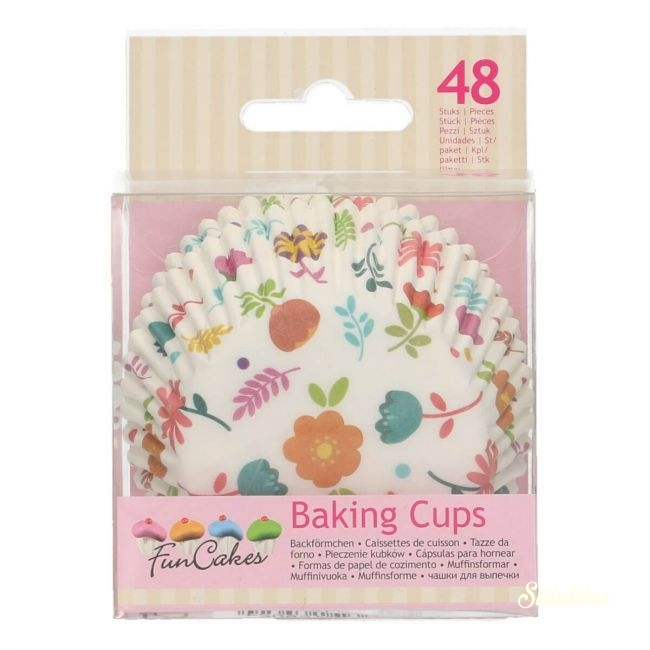 Funcakes muffinpapír 48db - Virágos