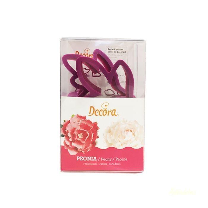 Decora műanyag virág kiszúró szett - Pünkösdi rózsa