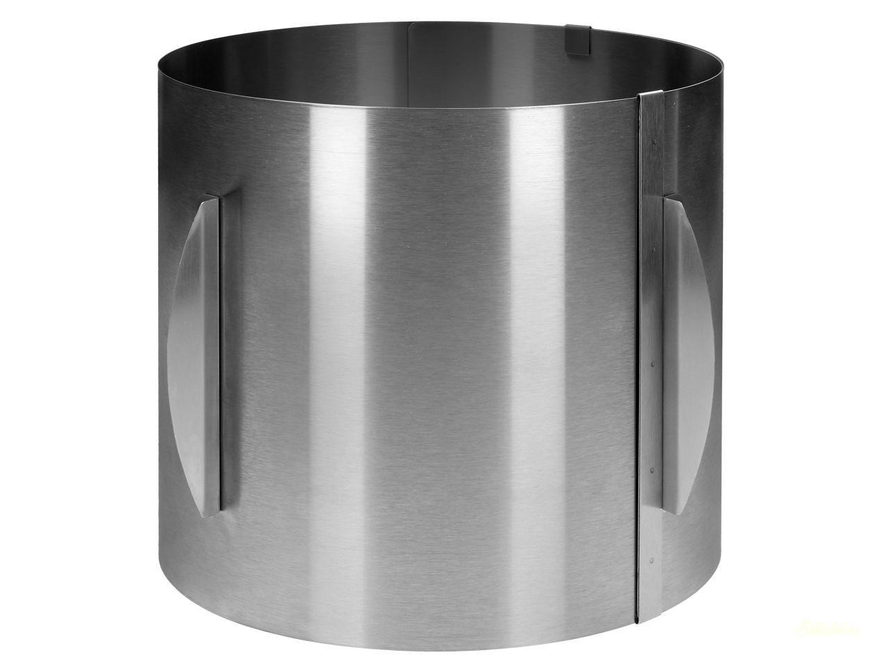 CM Rozsdamentes acél állítható tortakarika 20cm magas KEREK