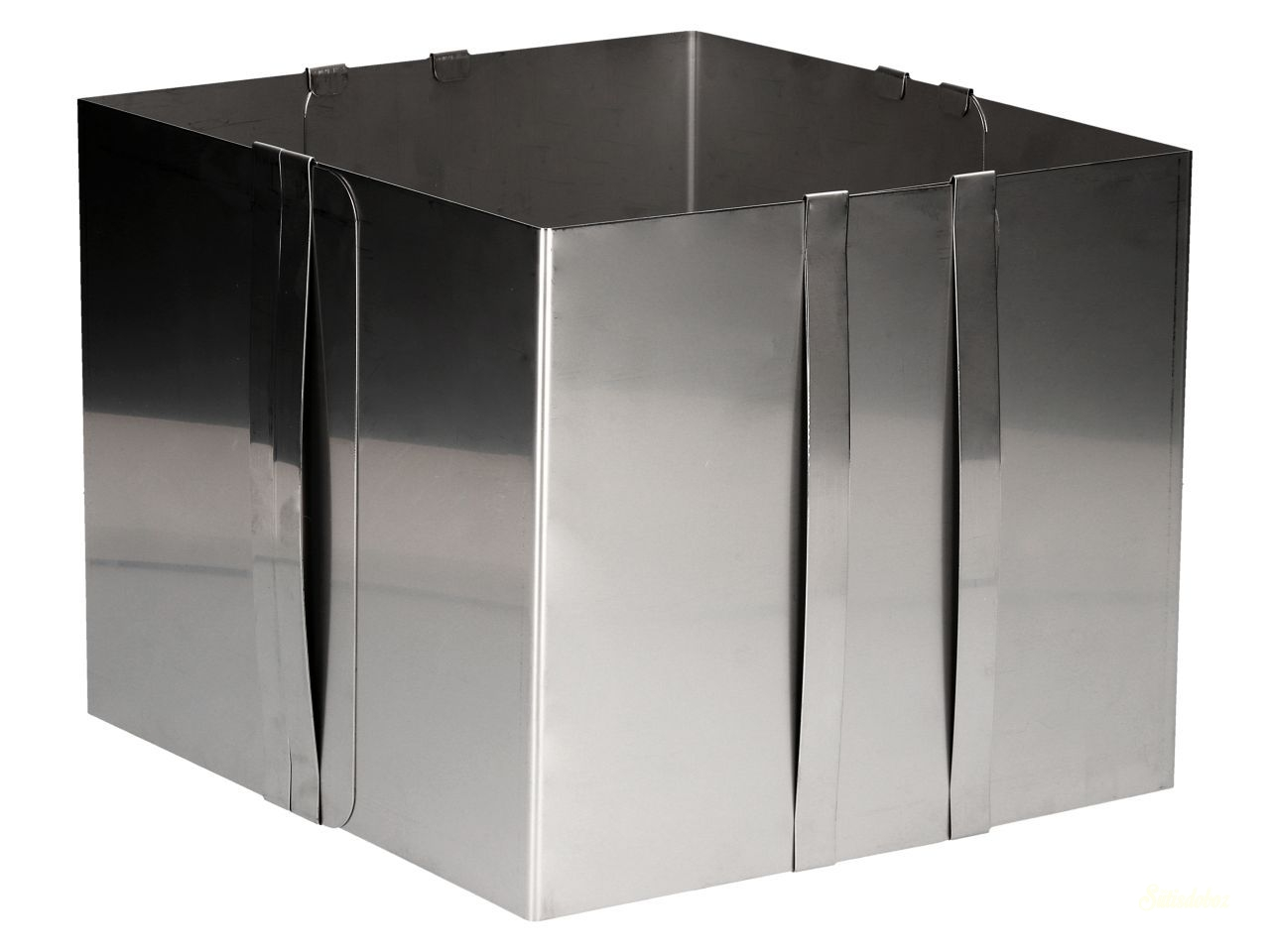 CM Rozsdamentes acél állítható tortakarika 20cm magas SZÖGLETES