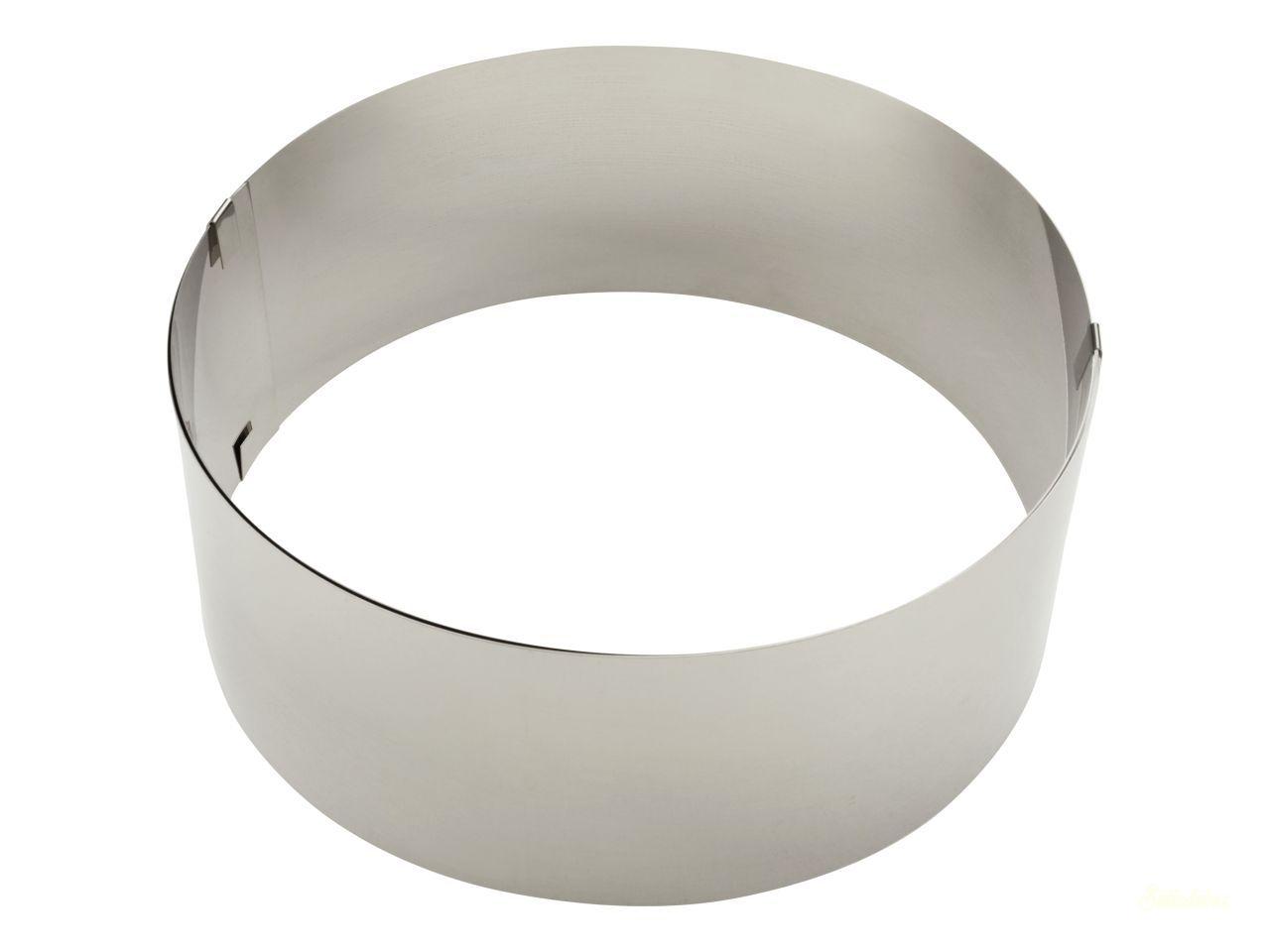 Rozsdamentes acél állítható tortakarika 8cm magas kerek