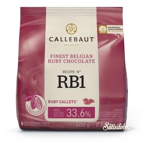 Callebaut belga csokoládé pasztilla 400g Ruby